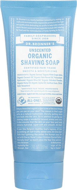 Dr. Bronner's Unscented Shaving Soap