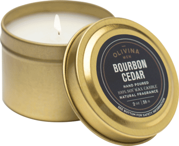 Olivina Men Bourbon Cedar Candle