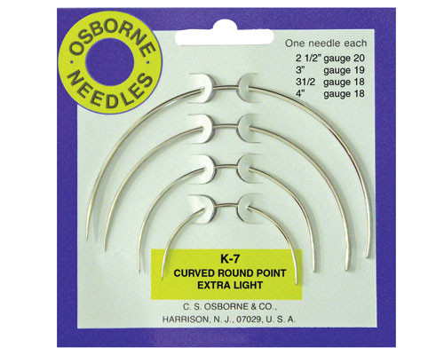 Round Point Curved Needle Lightweight (Set of 4)