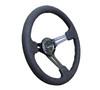 "350MM Sport 3"" Deep Dish Suede Steering Wheel (Reinforced)"