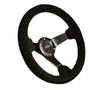 "330MM Sport 3"" Deep Dish Reinforced Suede Steering Wheel"