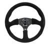 "350MM Sport 2.5"" Deep Dish Reinforced Steering Wheel wrapped in Suede"