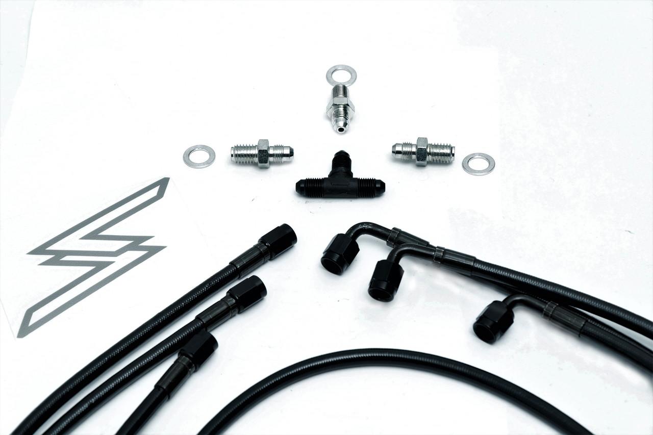 Dual Caliper Handbrake Line Kit 94-04 Mustang