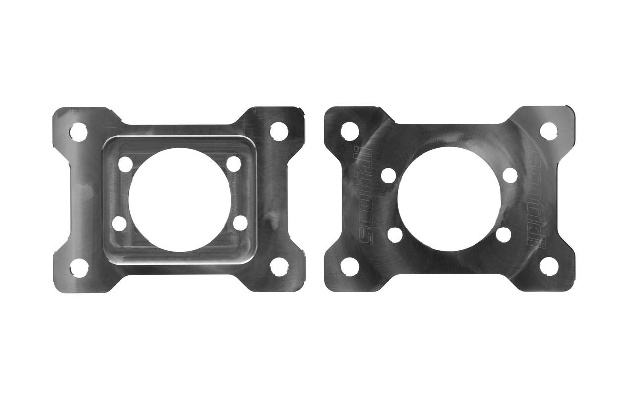 Billet Dual Caliper Brackets for 79-04 Mustang GT/Base