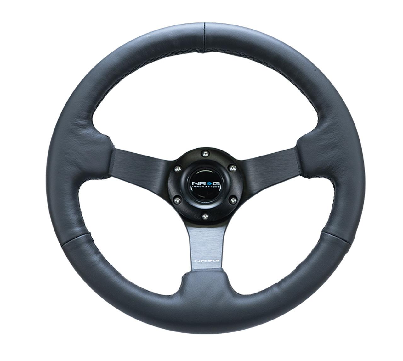"330MM Sport 3"" Deep Dish Reinforced Leather Steering Wheel"