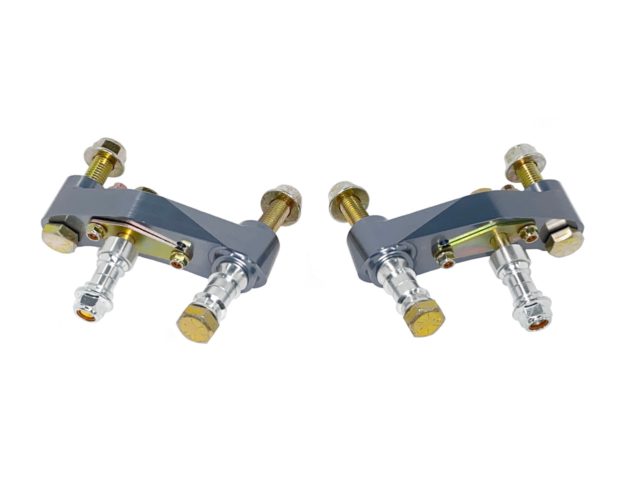 The 79-04 Mustang Quick Angle Adapter Kit is a great option for any 79-04 Mustang as long as it has factory 96+ spindles.