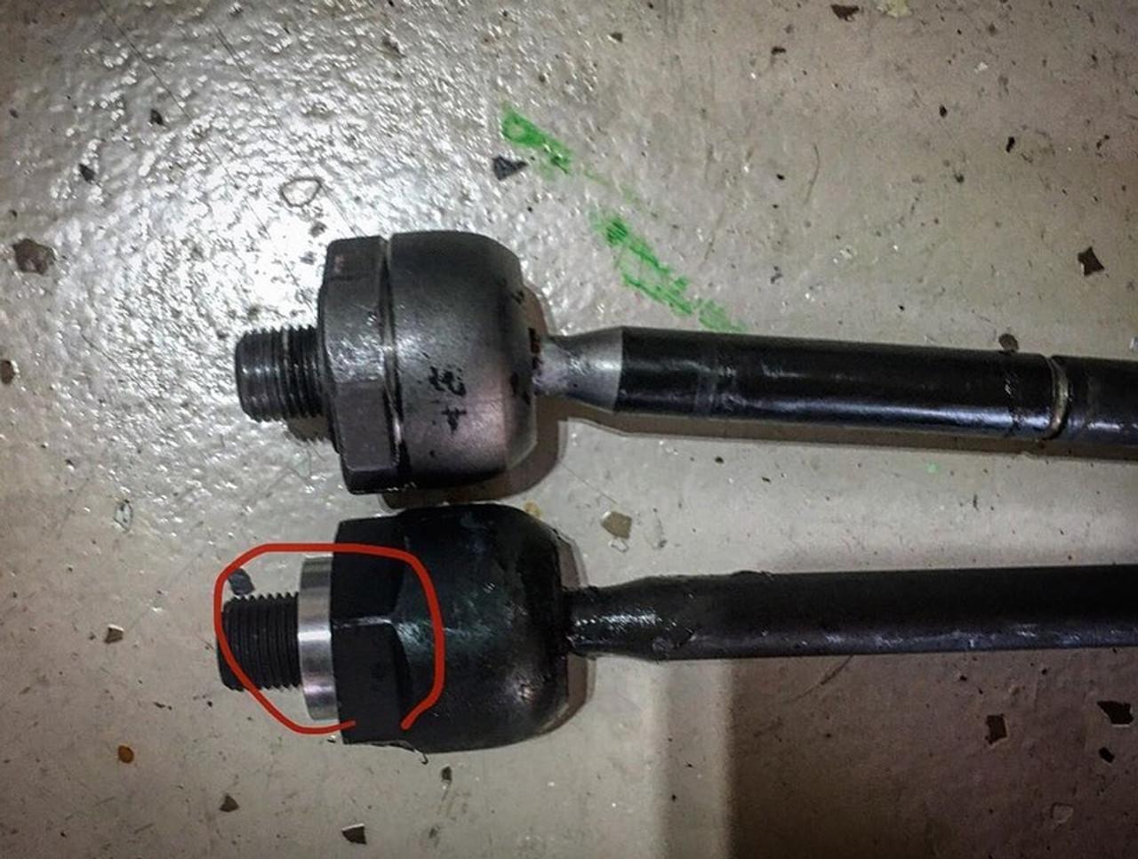 Make it Modular S197 Steering Rack Spacer installed