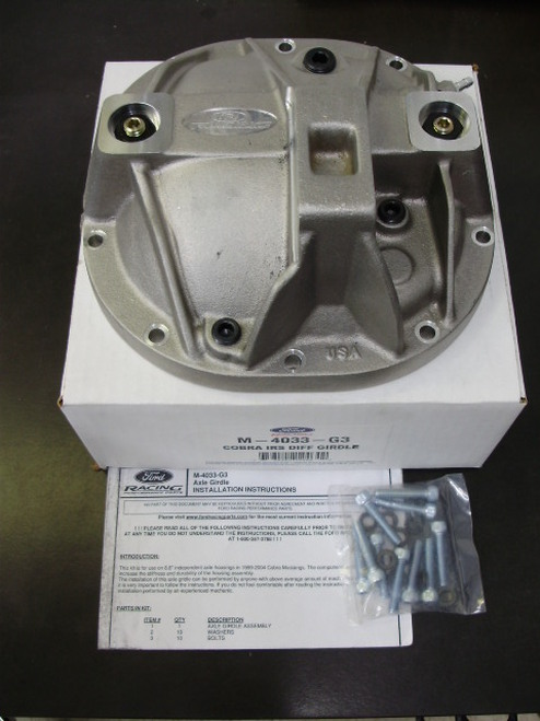 This Combo Pack includes  kit includes a Ford Racing reinforced rear differential cover with mounting hardware. Part #: FT1350M