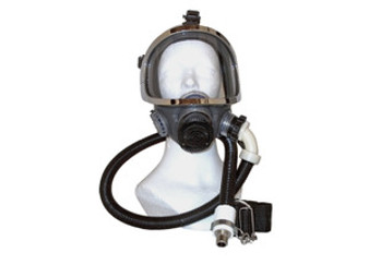 Full face mask assembly for supplied air respirator