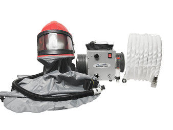 Breathecool II Supplied Air Respirator System w/sandblast helmet/cape