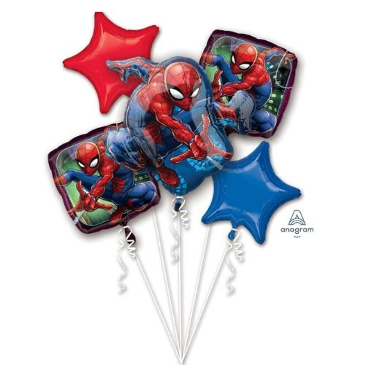 Spiderman Balloon Bouquet Discount Party Warehouse