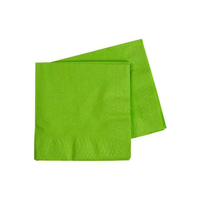 Lime Green Cocktail Napkins 2 Ply 40 Pack