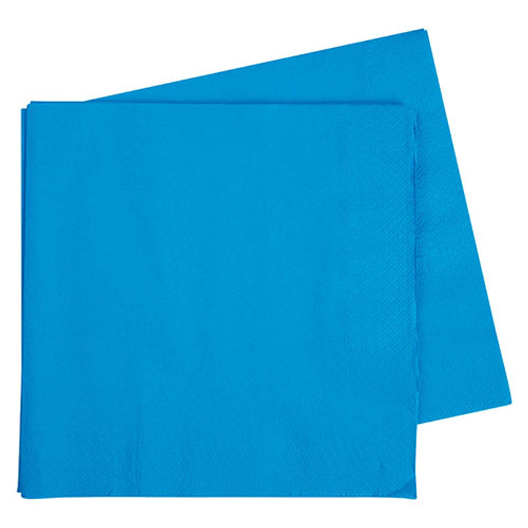 Electric Blue Napkins Dinner 2 Ply 40 Pack