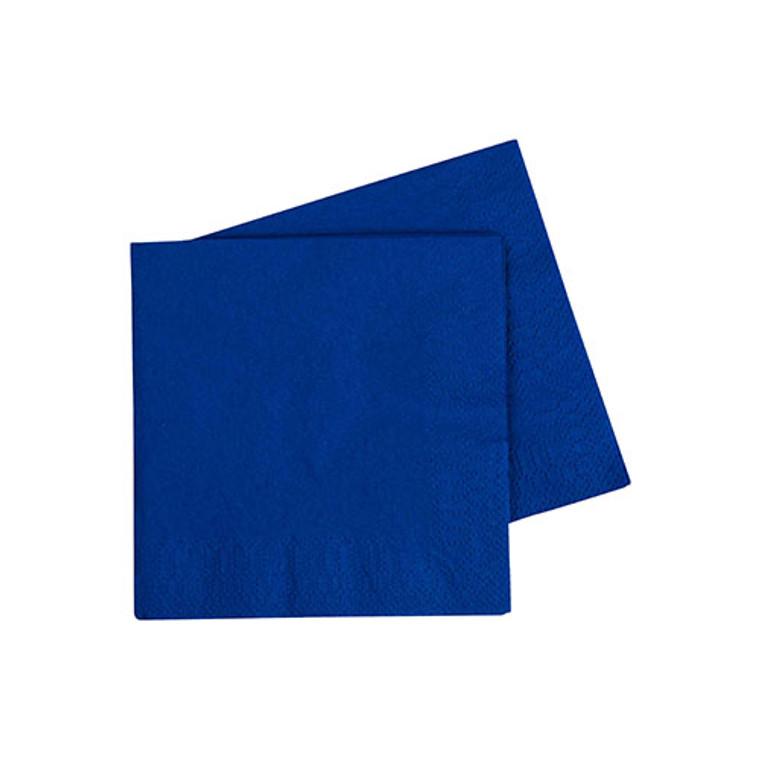 Dark Blue Cocktail Napkins - Pack Of 40