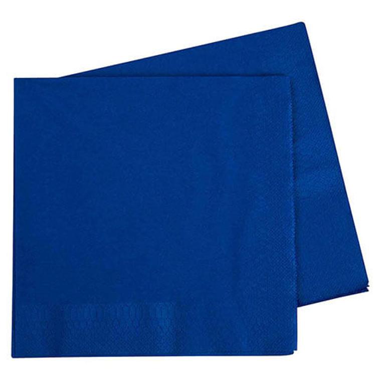Dark Blue Dinner Napkins - Pack Of 40
