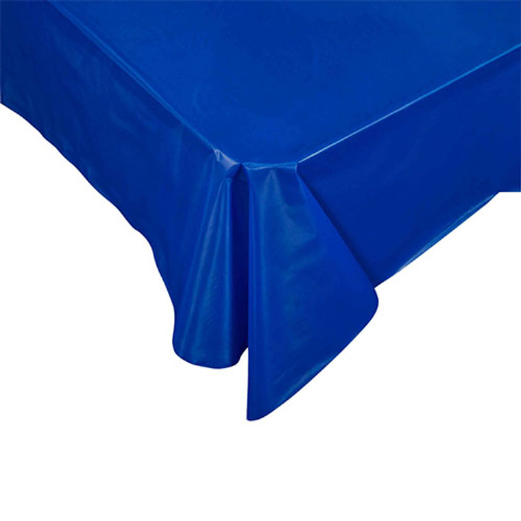 Dark Blue Plastic Table Cover Rectangular 274cm x 137cm