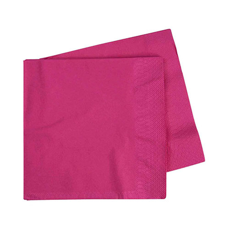 Magenta Lunch Napkins - Pack Of 40