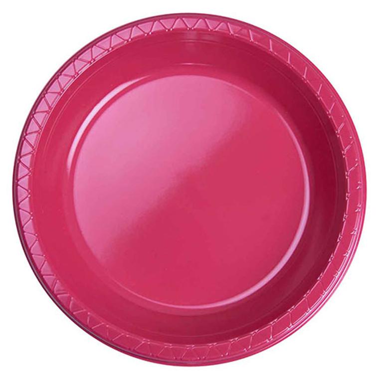 Magenta Plastic Plates Banquet 26cm 20 Pack