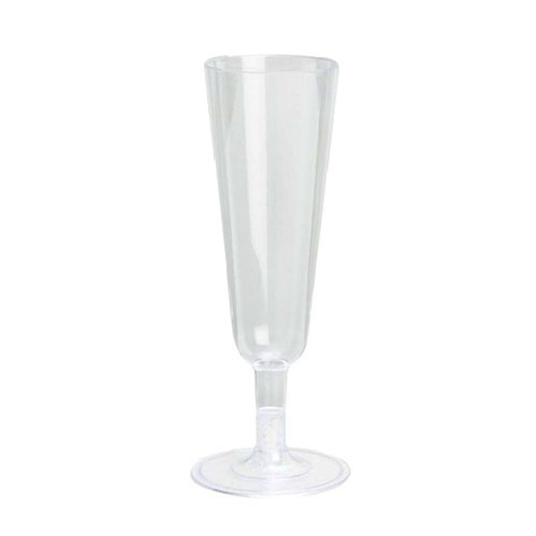 Plastic Champagne Flutes Clear 150ml 8 Pack