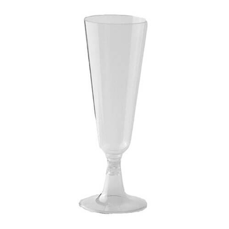 Plastic Champagne Glasses Clear 175ml 6 Pack