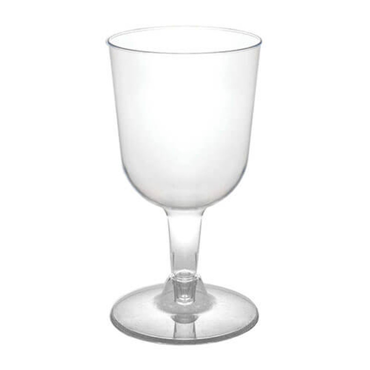 Plastic Wine Glasses Clear 210ml 6 Pack