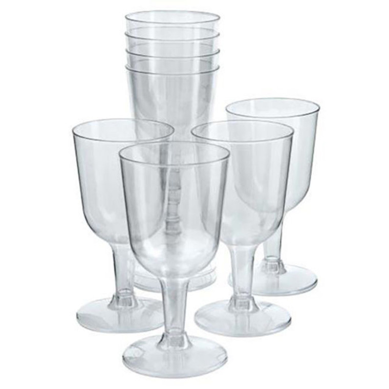 Plastic Wine Glasses Pk15 150ml