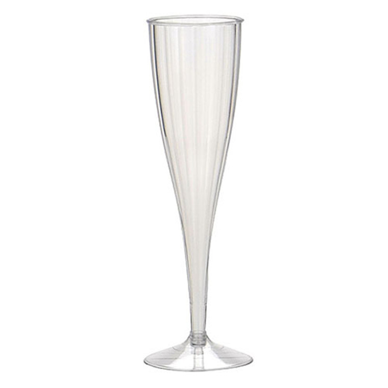 Heavy Duty Plastic Champagne Flutes Clear 150ml 10 Pack