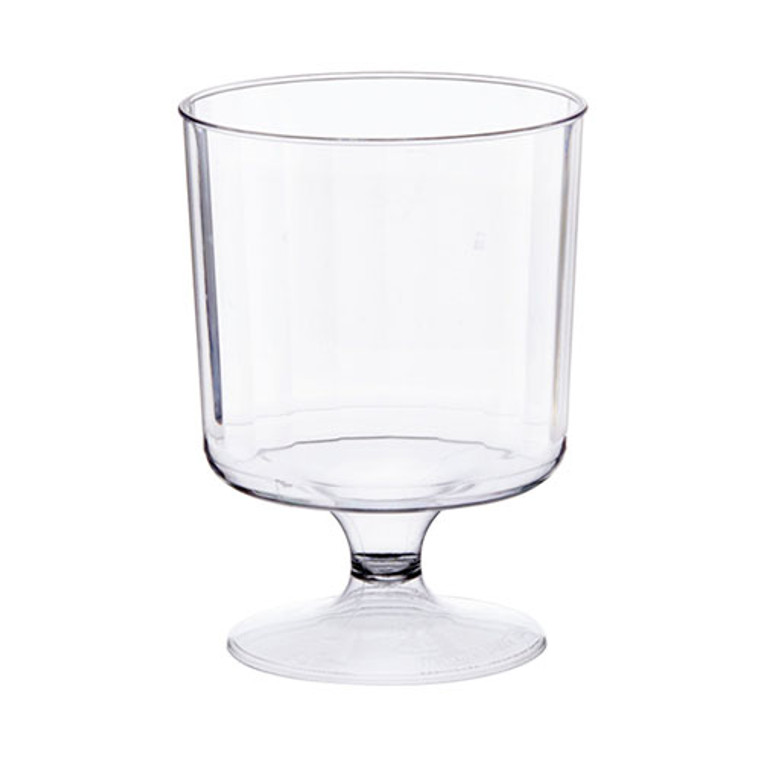 Heavy Duty Plastic Wine Goblets Clear 170ml 10 Pack