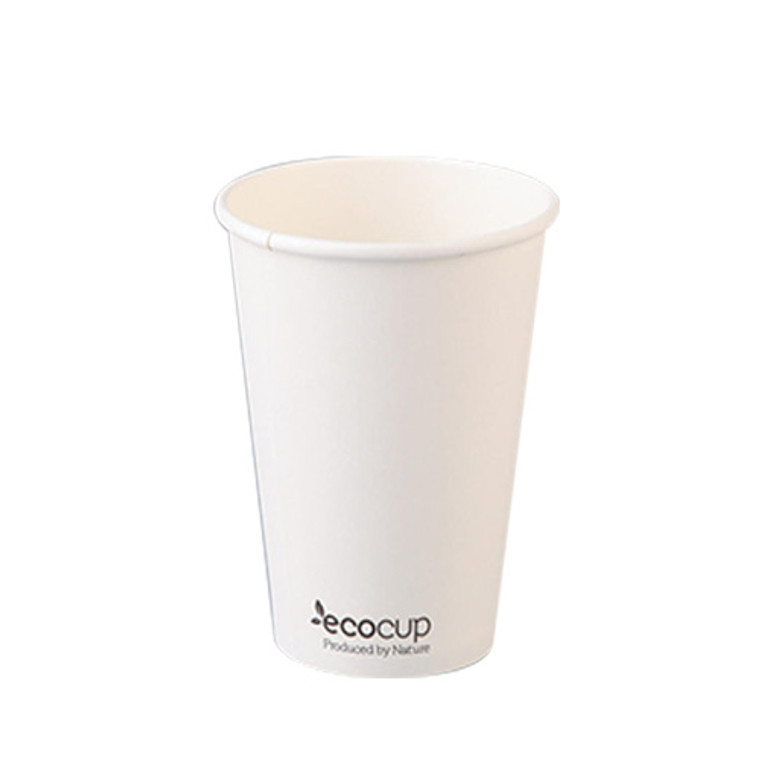 EcoCup Single Wall White Coffee Cup 355ml 50Pk