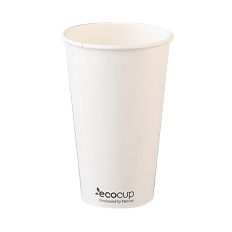 EcoCup Single Wall White Coffee Cup 475ml 50Pk