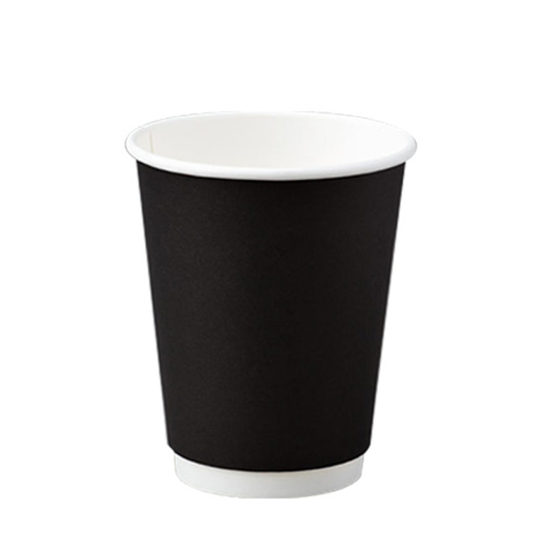 BetaEco Black Smooth Double Wall Cups 355ml 25Pk