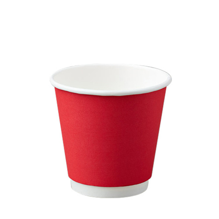 BetaEco Red Smooth Double Wall Cups 237ml 25Pk