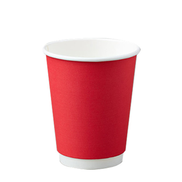 BetaEco Red Smooth Double Wall Cups 355ml 25Pk