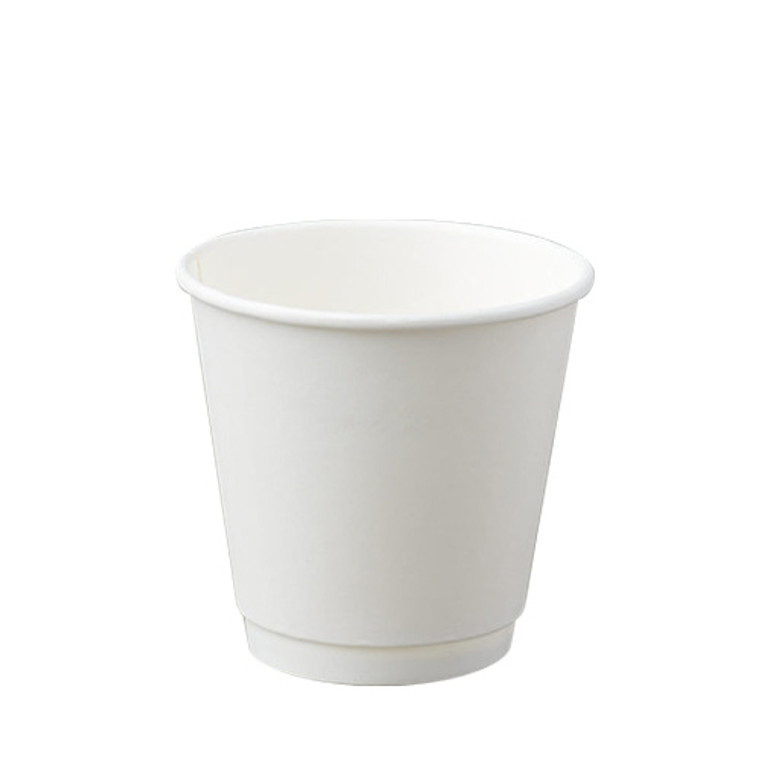 BetaEco White Smooth Double Wall Cups 237ml 25Pk