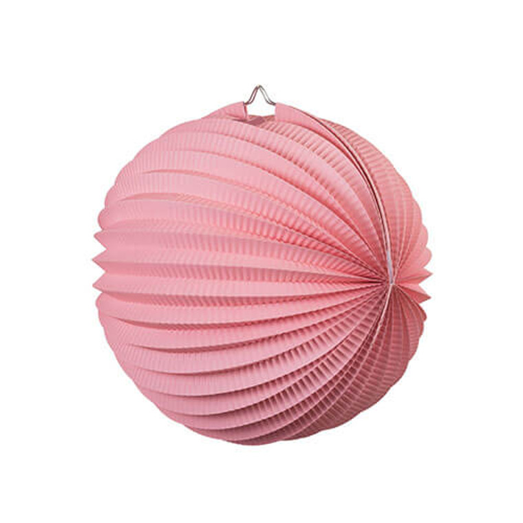 Decorative Accordion Lantern 25cm - Light Pink
