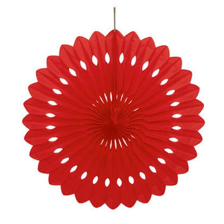 Decorative Fan Red - 40cm