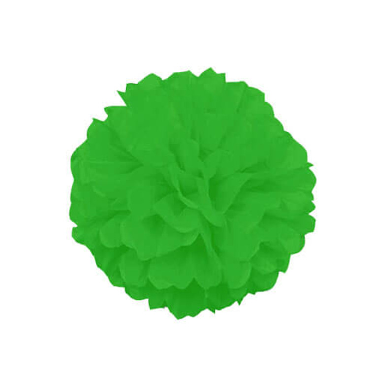 Decorative Hanging Puff 30cm - Lime Green