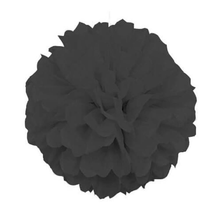 Decorative Hanging Puff 40cm - Black