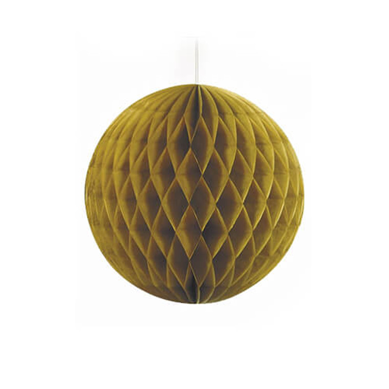 Decorative Honeycomb Ball 20cm - Gold