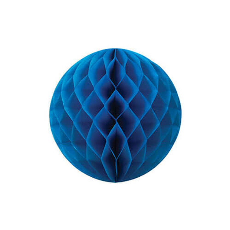 Decorative Honeycomb Ball 20cm - Royal Blue
