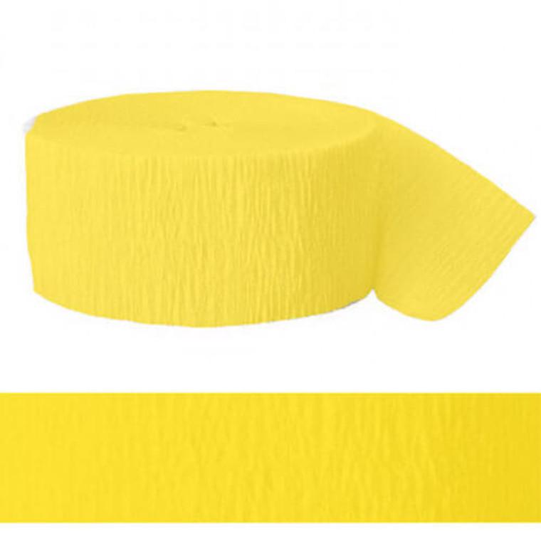 Streamer Crepe Paper Hot Yellow