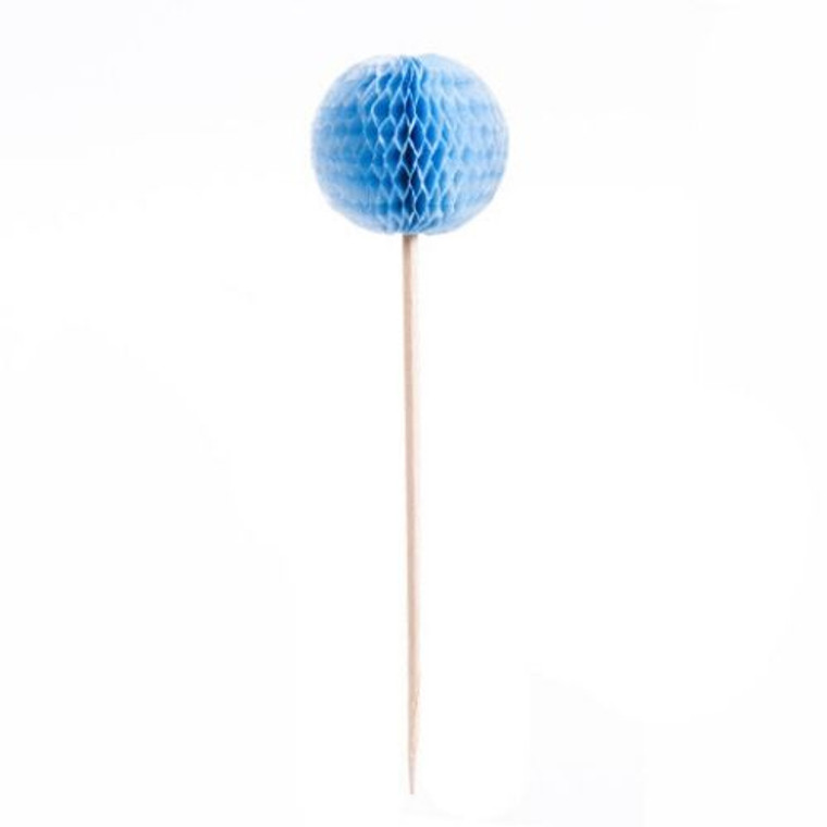 Honeycomb Picks - Light Blue 24Pc