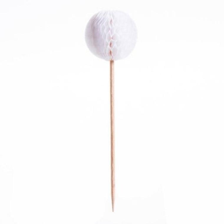 Honeycomb Picks - White 24Pc