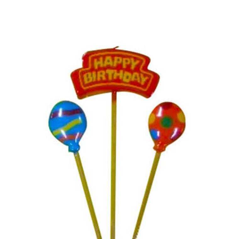 3 Pc Candle Set - Happy Birthday