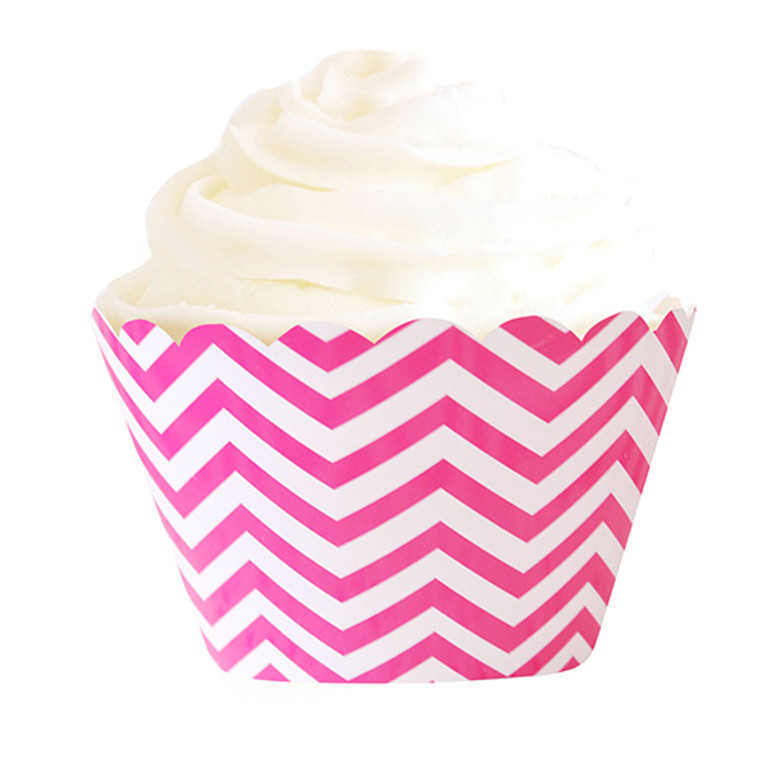 Luxe Hot Pink Cupcake Wrappers 12pk