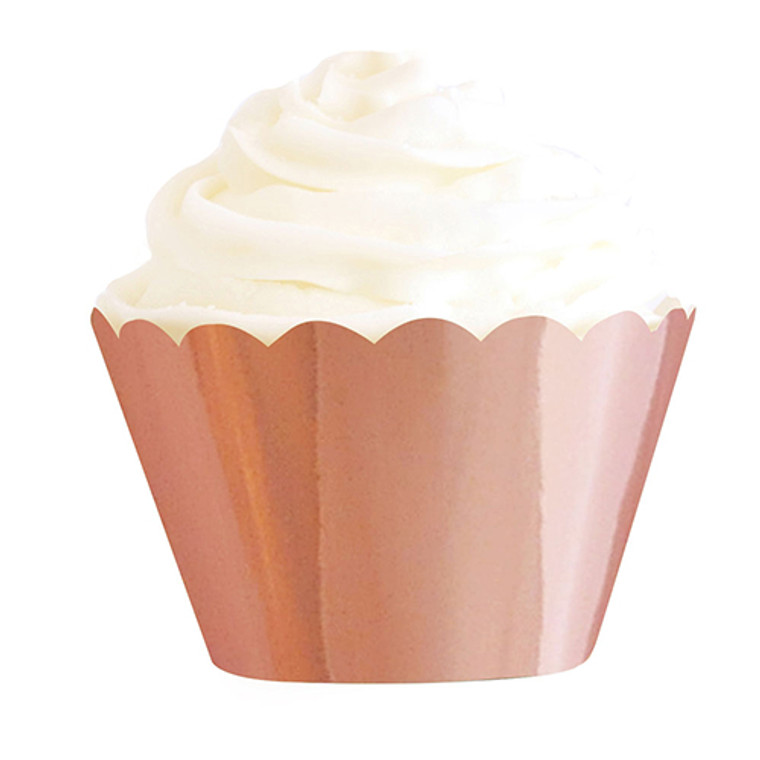Luxe Rose Gold Foil Cupcake Wrappers 12pk