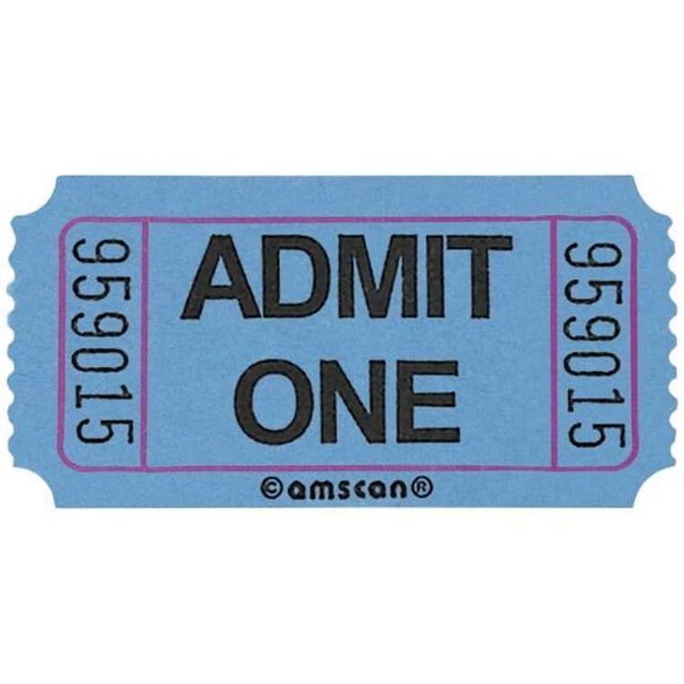 Ticket Roll Admit One Blue 2000 Tickets