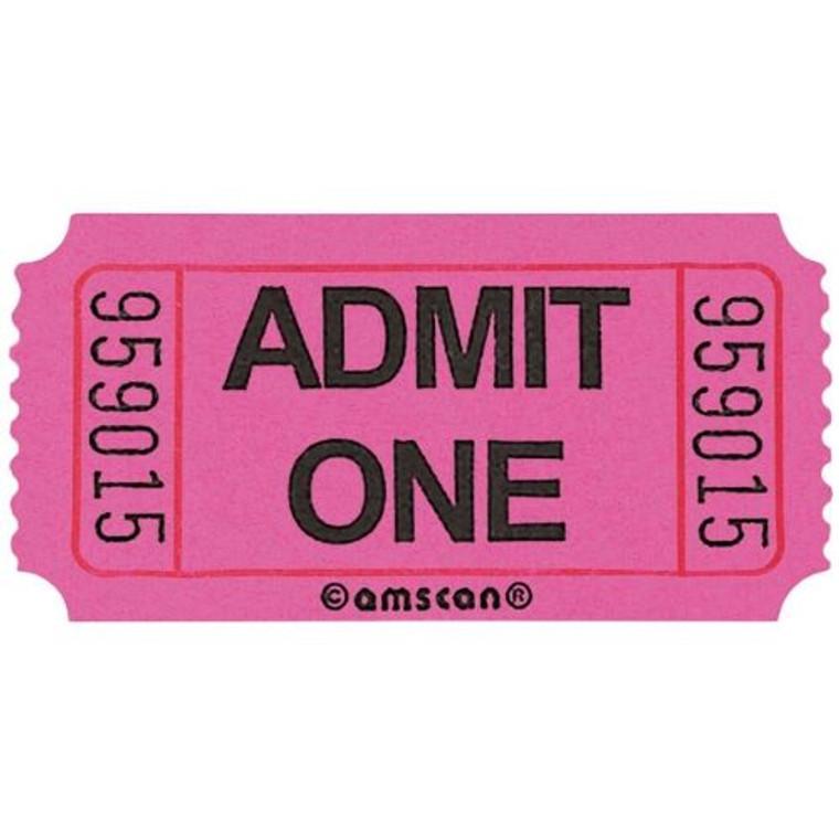 Ticket Roll Admit One Pink 2000 Tickets