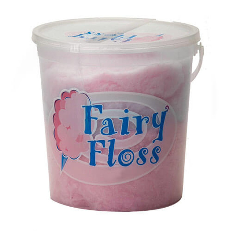 Fairy Floss 300g Bucket - Pink