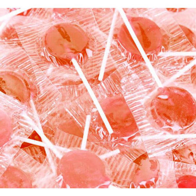 Flat Round Lollipops - Orange 1kg
